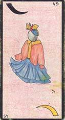 carte 45 La Jeune Fille