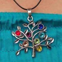 pendentif chakras arbre de vie 2