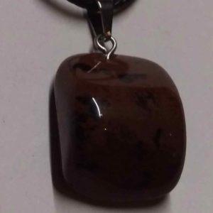 collier obsidienne pourpre