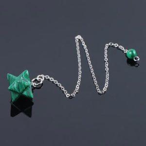 Pendule étoile Malachite