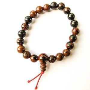 Bracelet Obsidienne Acajou