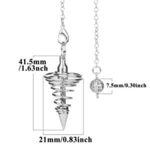 Taille pendule métal