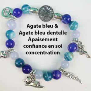 Agate bleue et dentelle