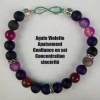 Bracelet Agate Violette