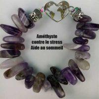 Bracelet Améthyste Grosses perles