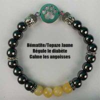 Bracelet Hématite Topaze Jaune modèle 2