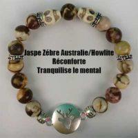 Bracelet Jaspe Zèbre Howlite