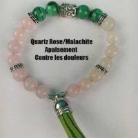 Bracelet Quartz Rose – Malachite