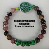 Bracelet Rhodonite – Malachite